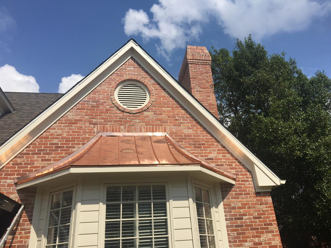Irongate Roofing Copper Awning Before Amp After Rockwall